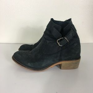 Coolway | Anthropologie Navy Blue Leather Booties